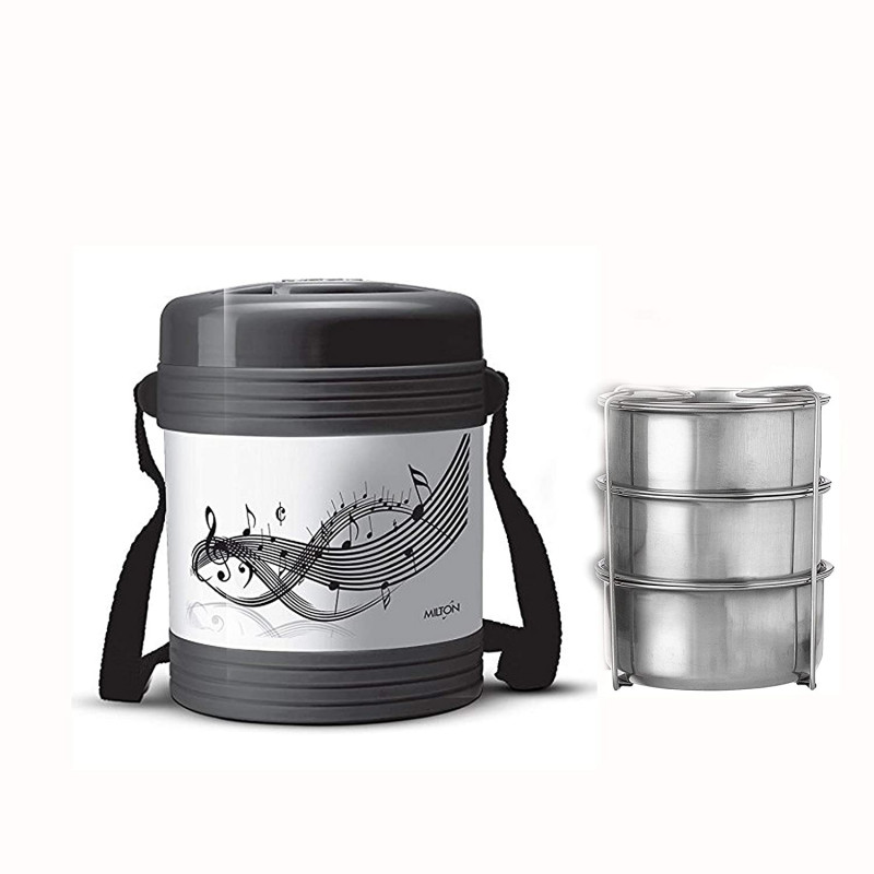 Milton Vector 3 Containers Black